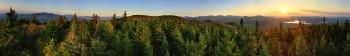 Scarface Mt over Saranac Lake 360 degree Treetop pano