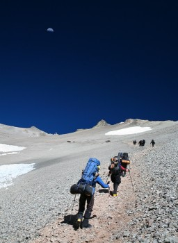 Making a Carry to High Camp