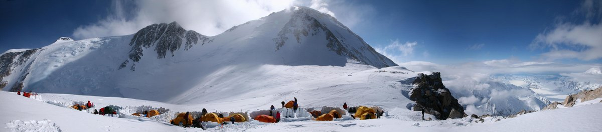 Denali, panorama, High Camp, summit, Denali Pass, summit day, attempt, West Buttress Route, photo