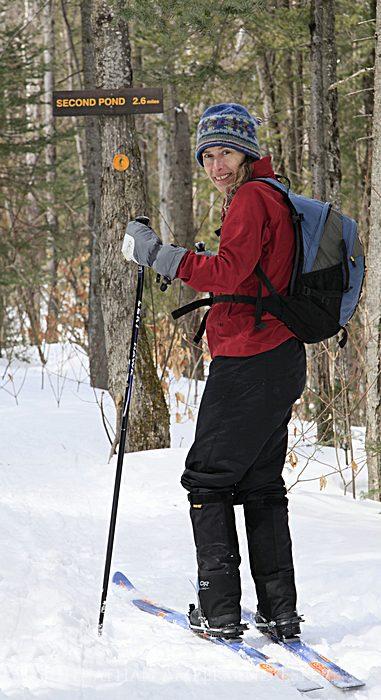 assignment,sample,Adirondack Life,magazine,photo,commissioned,skiers,Adirondack Park, Second Pond,skiing,x-c skiing,ski , photo