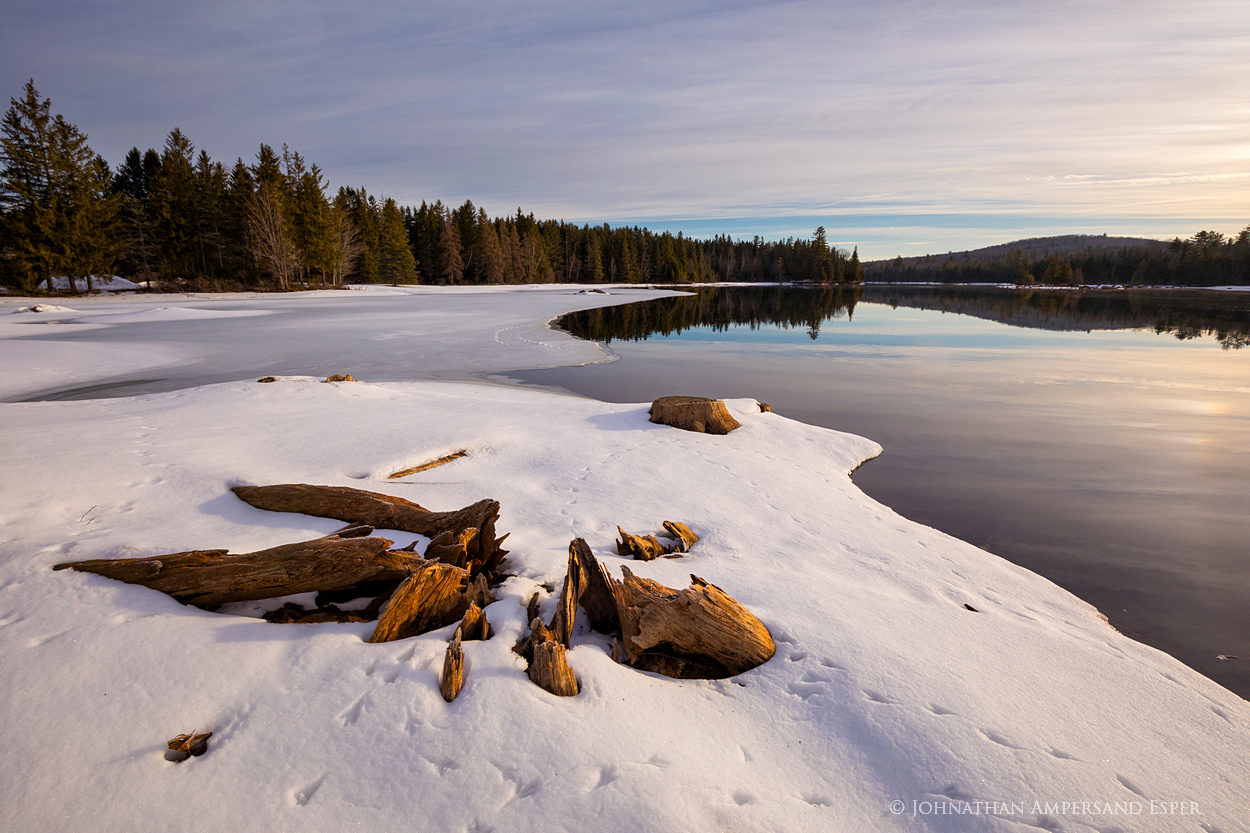 Abanakee,Lake Abanakee,Abanakee Lake,stump,April,spring ice,ice,spring,, photo