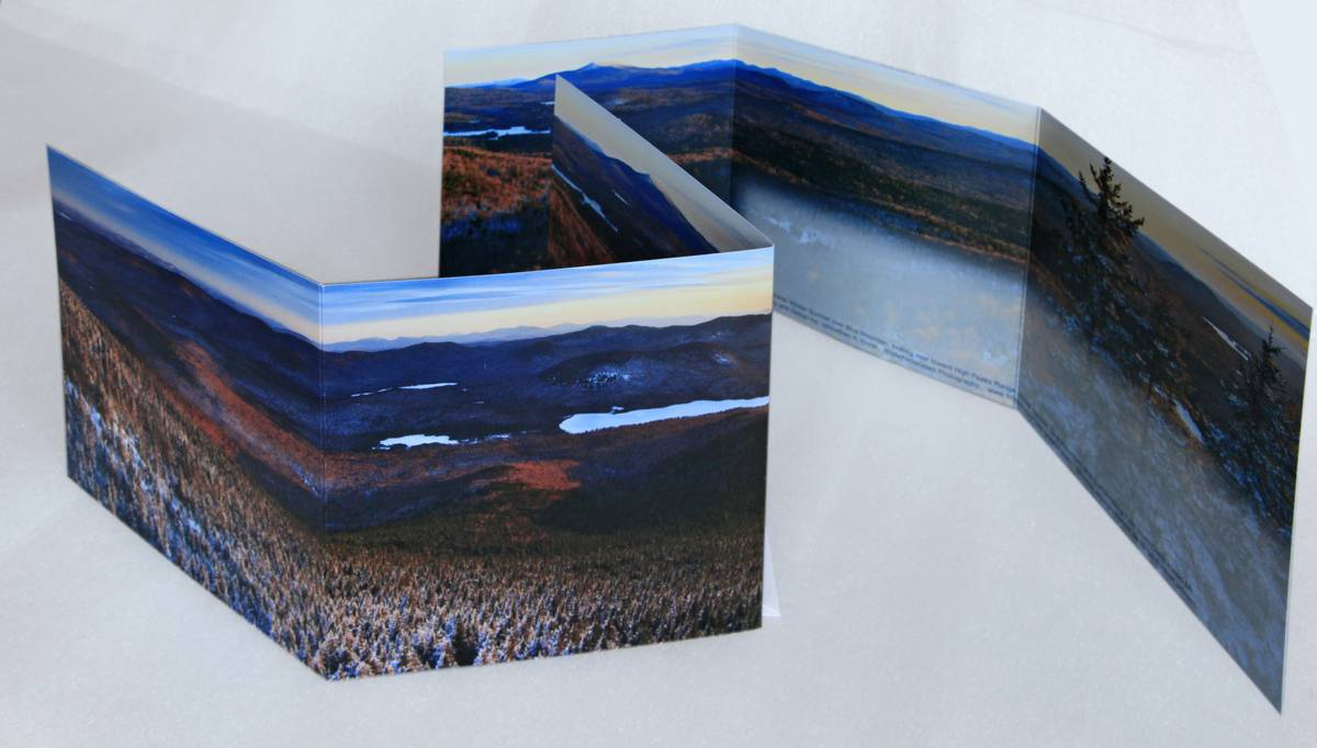 Blue Mountain,Blue Mountain Lake,Owls Head Mt,trifold,Adirondack,notecard,notecards,winter,panoramas,scenes, photo