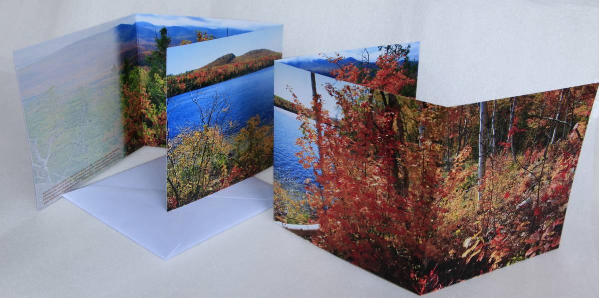 Thirteenth Lake,13th Lake,Mt. Jo,Heart Lake,notecard,autumn,Adirondack,lake,scenes,notecards, photo