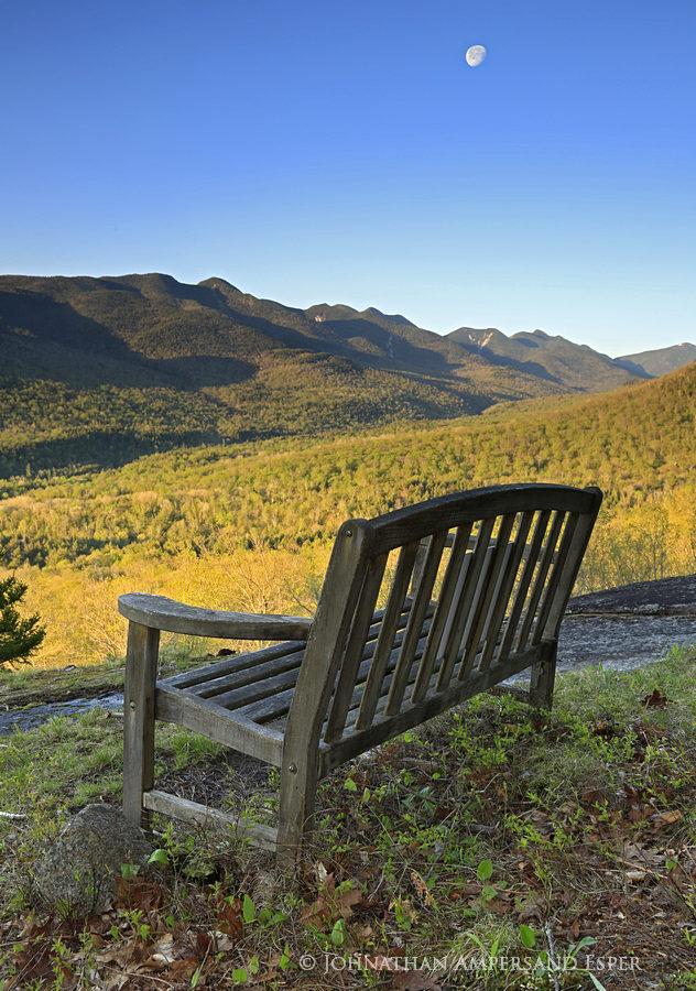 Adrians Acres,Great Range,Adriens Acres,bench,spring,moon