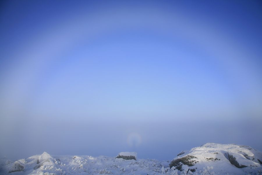 haze, rings, halo, around, person, photographer, Algonquin, Adirondacks, photo