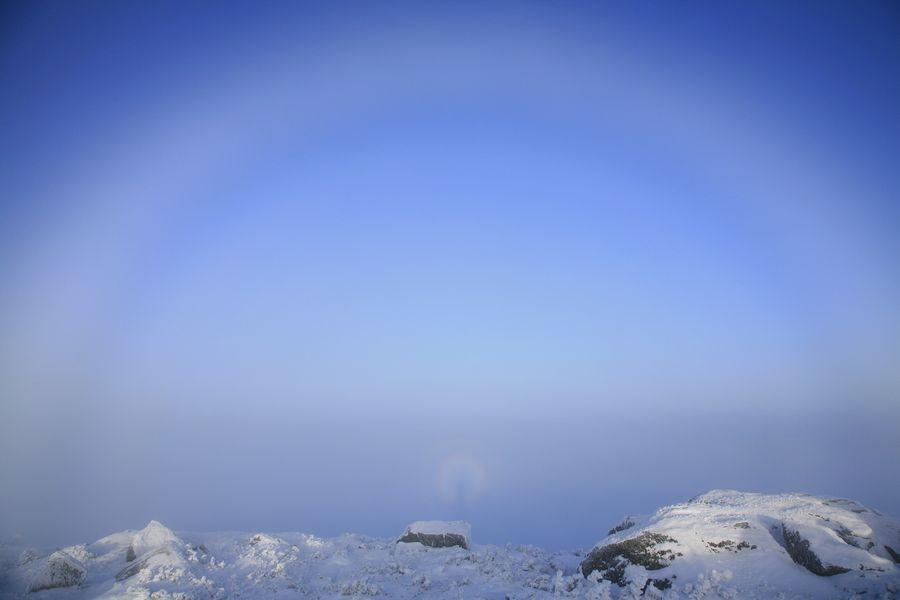 haze, rings, halo, around, person, photographer, Algonquin, Adirondacks, photo