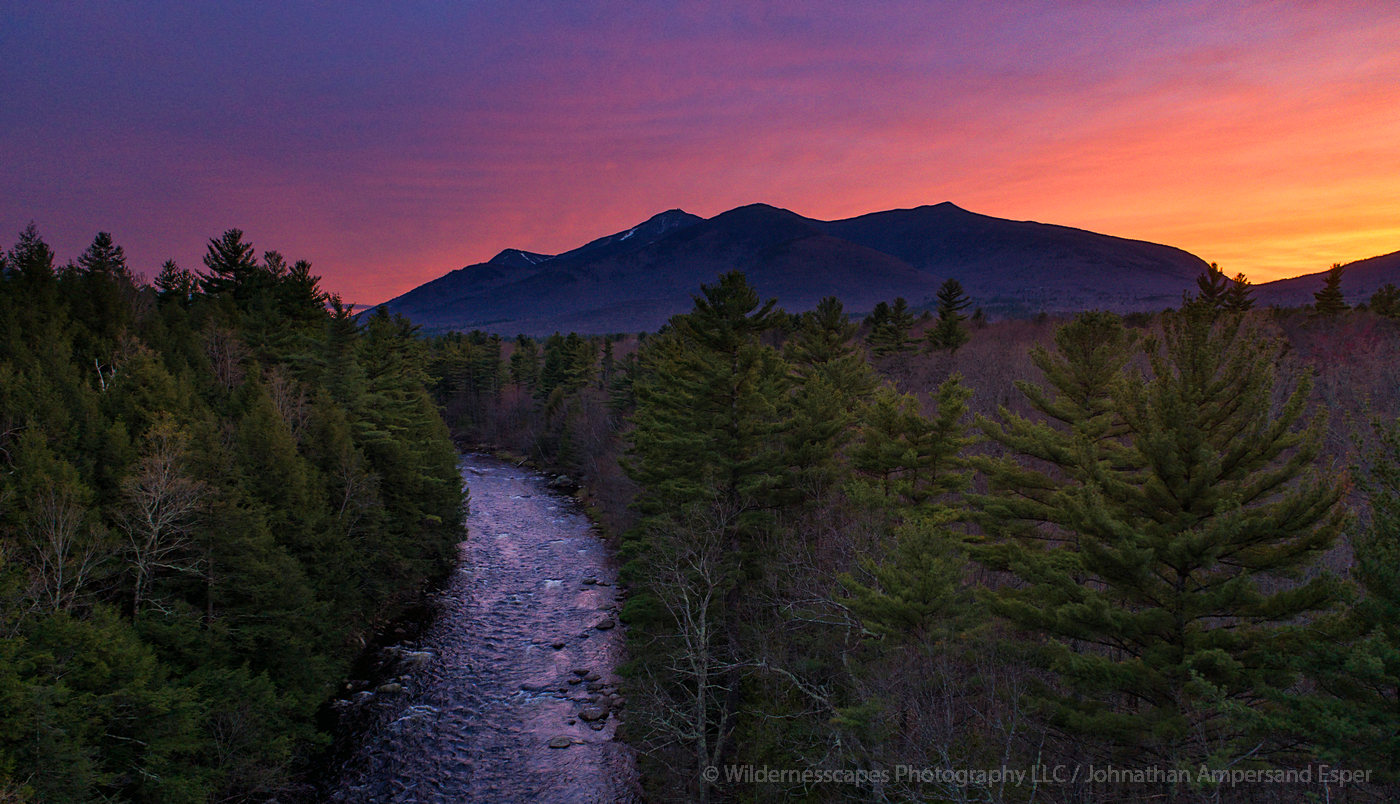 This section of the Ausable River is just a thousand feet from the deck of my house. The Ausable River is flowing past Whiteface...