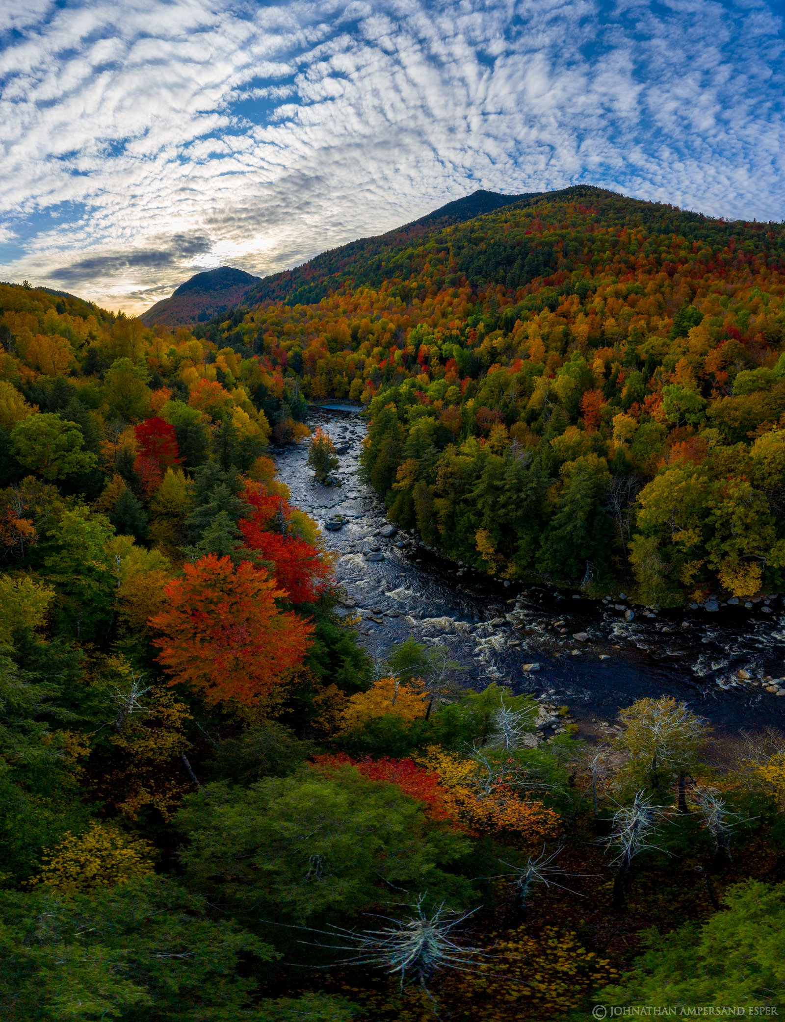 High Falls Gorge,Whiteface Mt,Whiteface,Whiteface Mountain,Ausable River,AuSable River,drone,vertical,vertical panorama,fall...