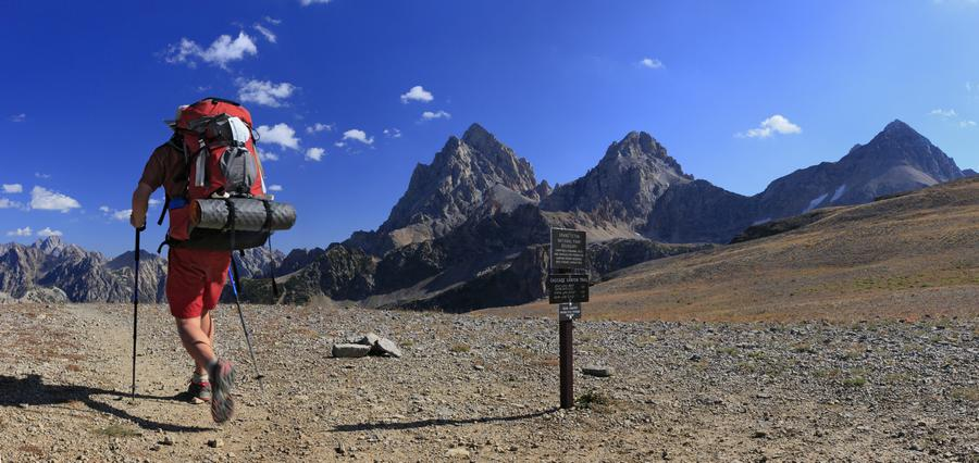 backpacker,swift,strong,calf,muscles,legs,fast,backpacking,solo,hiker,hiking,Grand Teton National Park,Wyoming,west,divi, photo