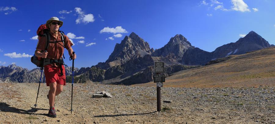 hiker,Johnathan Esper,backpacker,solo,fast,fastpacking,strong,muscular,Grand Teton National Park,pass,divide,mountains,h, photo