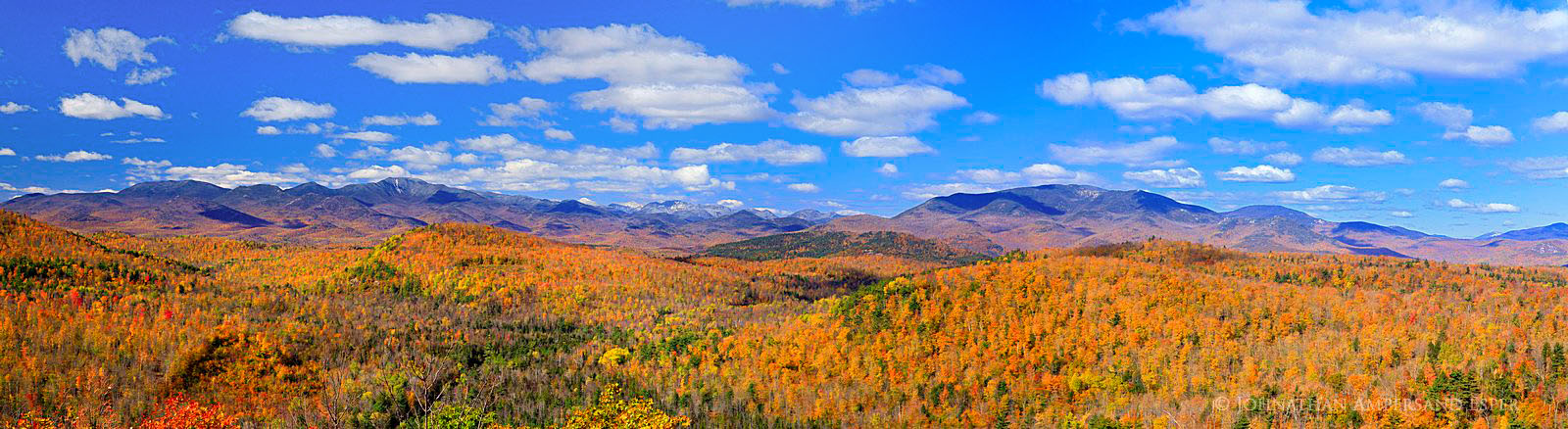 Dix Range,Dix Mt,October,October snowfall,High Peaks,Belfry Mt,firetower,puffy clouds,autumn,Adirondacks,eastern Adirondacks, photo