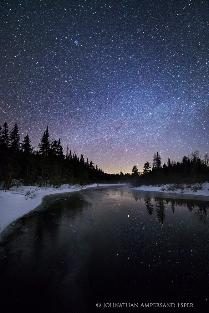 Big Brook,night,night sky,stars,night photography,Adirondack Park,river,reflection,stars reflection,Johnathan Esper,Adirondacks,November,, photo
