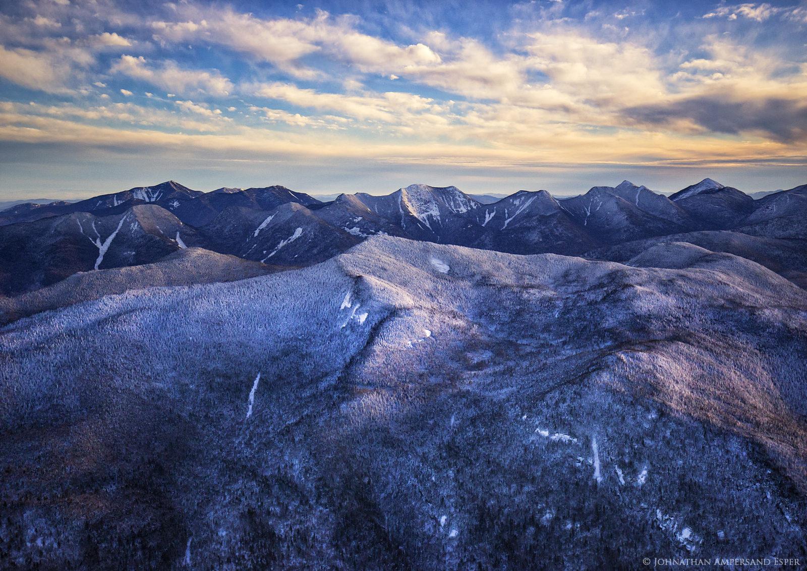 aerial,winter,High Peaks,2016,Adirondack Mountains,Adirondack High Peaks,Adirondacks,Big Slide Mt,Great Range,Big Slide,Dix Mt, photo