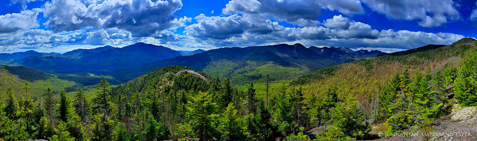 Johns Brook Valley, Big Slide Mt,Big Slide, Great Range,Adirondack High Peaks,High Peaks,range,Adirondack mountains,Adirondacks,mountains,spring,springtime,First Brother,ridgeline,Giant Mt,Lower Wolf , photo