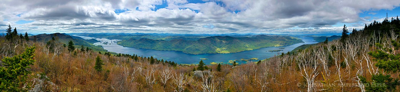 Black Mountain,treetop,Lake George,300 degree,panorama,spring,Adirondacks,Adirondack Park,view,Black Mt,firetower, photo