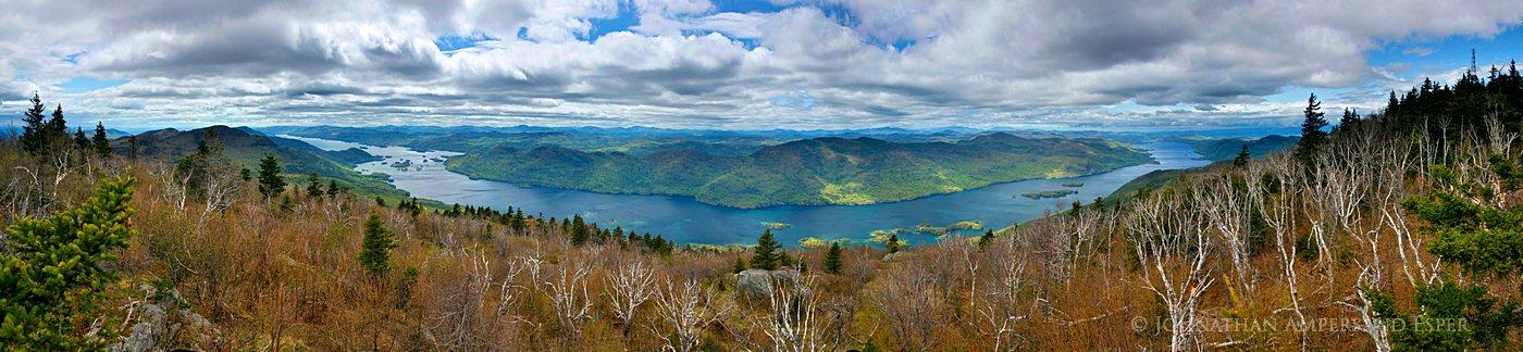 Black Mountain,treetop,Lake George,300 degree,panorama,spring,Adirondacks,Adirondack Park,view,Black Mt,firetower, photo