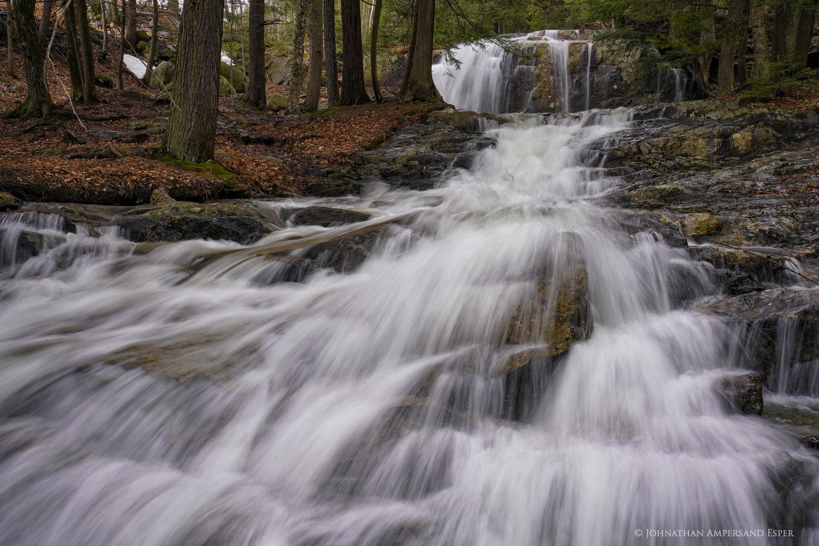 Block Falls,Stag Brook,Stag Brook Falls,Whiteface Mt,Whiteface Mt ski area,Block Falls Stag Brook,waterfall,stream,spring,2020...