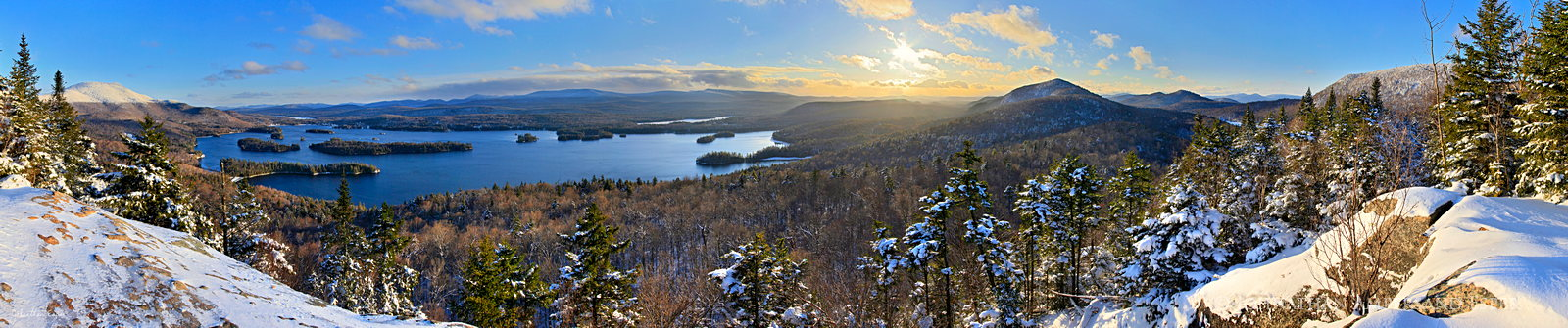 Blue Mountain Lake,Blue Mountain,Castle Rock,winter,panorama,December,Adirondack Park,Adirondacks,Johnathan Esper, photo