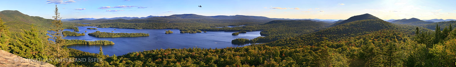 Blue Mountain Lake,Castle Rock,Blue Mountain,floatplane,summer,panorama,Blue Mt Lake,Blue Mountain Lake Castle Rock Floa, photo