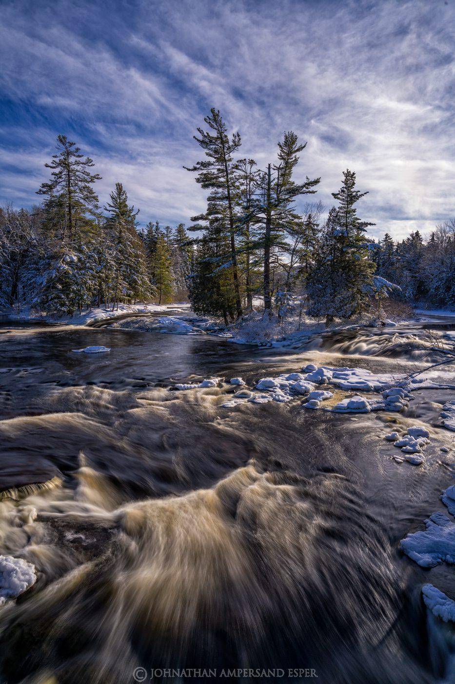 Bog River Falls,2021,winter,snow,Tupper Lake,
