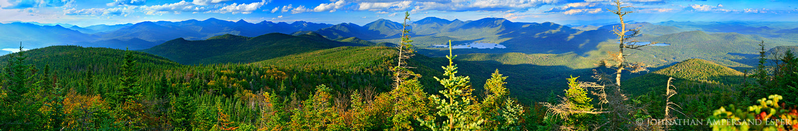 Boreas Mt,Boreas Mountain,panorama,Elk Lake,region,area,High peaks,south,view,from,treetop,spurce,tree,Adirondack Mountains,Elk Lake Preserve, photo