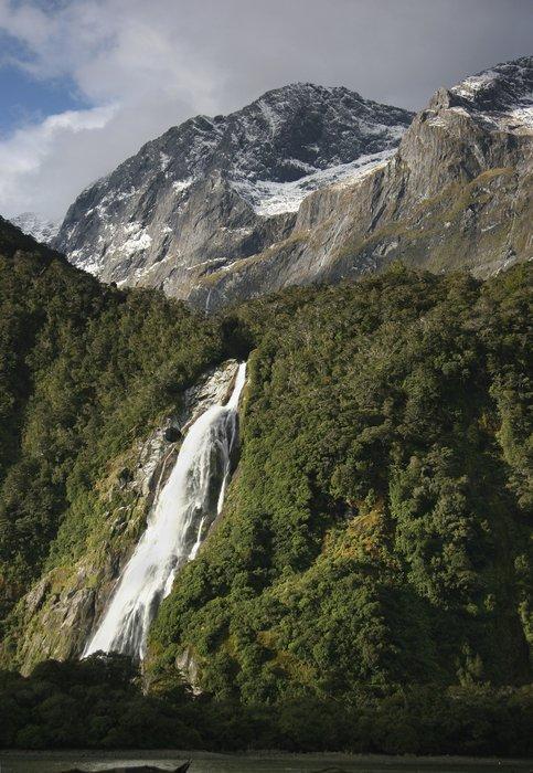 Bowen Falls,Milford Sound,Fiordland National Park,New Zealand, photo