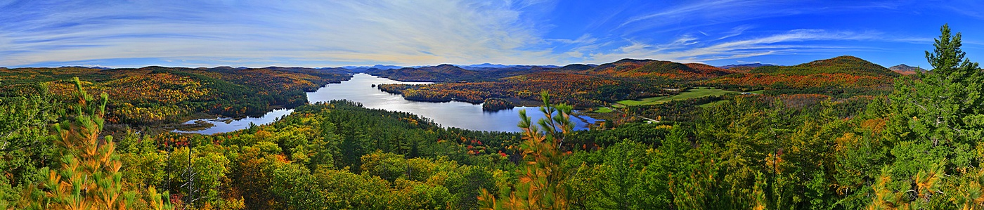 Brant Lake,First Brother Mt,autumn,panorama,treetop,fall,Adirondack,lake, photo