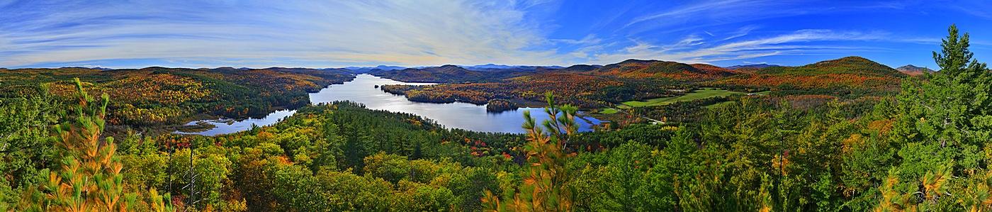 Brant Lake,First Brother Mt,autumn,panorama,treetop,fall,Adirondack,lake, photo