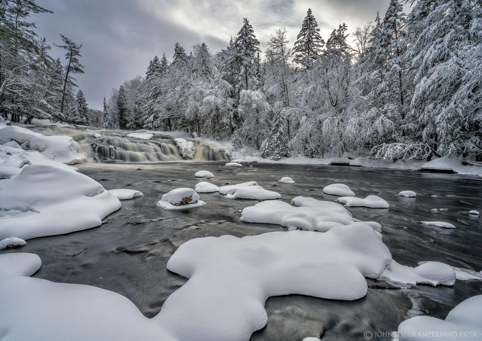 Buttermilk Falls,Long Lake,Raquette River,winter,river,waterfall,falls,waterfalls,Adirondacks