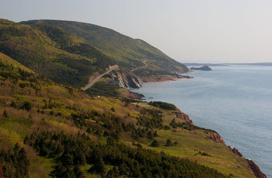 Cape Bretton Highlands, coast, road, national Park, photo