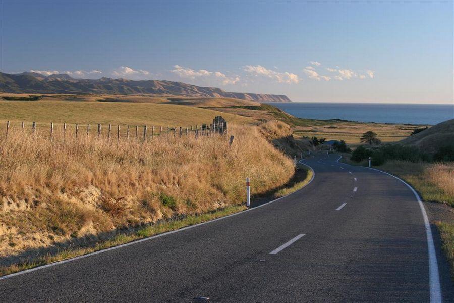 New Zealand, coastal, road, photo