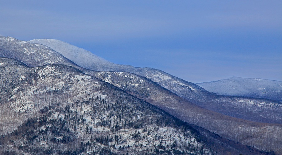 Cascade Mt,ridge lines,Baxter Mt,ridge,lines,shoulder,Cascade,winter,treetop, photo