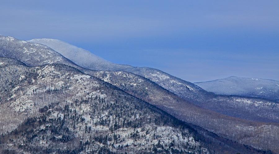 Cascade Mt,ridge lines,Baxter Mt,ridge,lines,shoulder,Cascade,winter,treetop, photo
