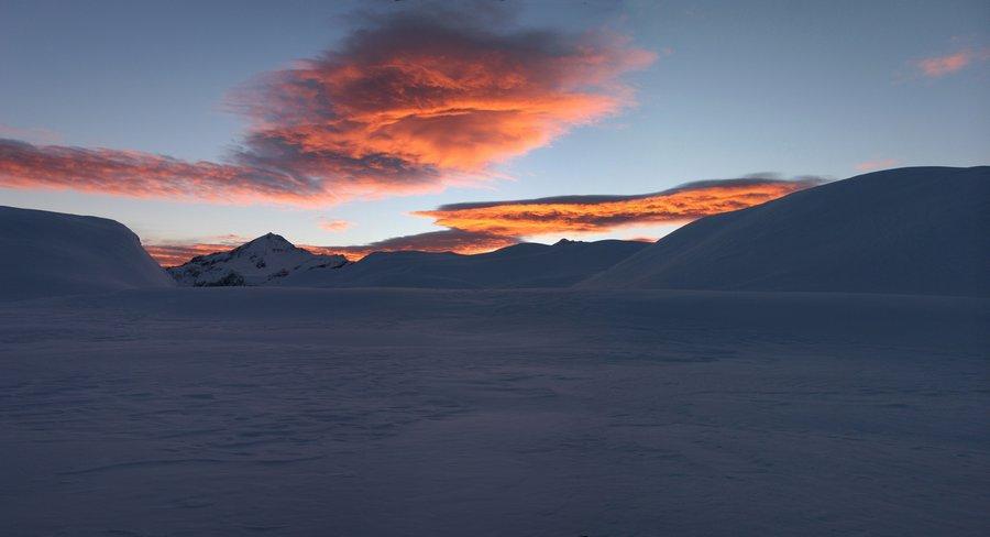 Mount Aspiring, Mt. Aspiring, National Park, Cascade Saddle, winter, sunset, Wanaka, photo