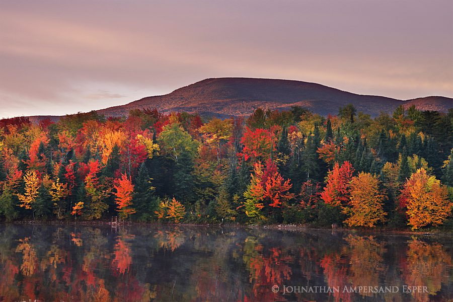 Lyon Mt,Lyon Mountain,Chazy Lake,Chazy Lake Seine Bay,autumn,foliage,sunrise, photo