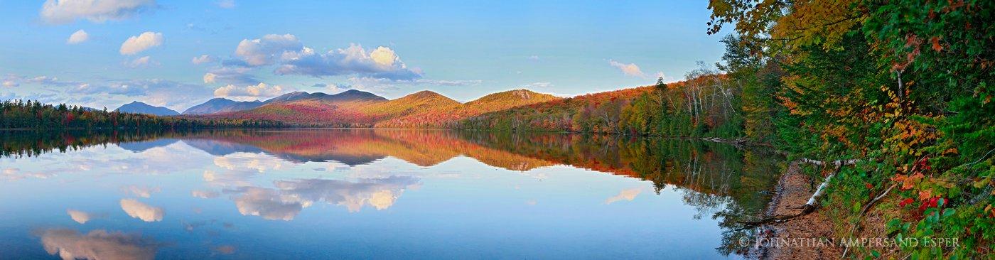 Clear Pond,Elk Lake,High Peaks,Dix Range,reflection,perfect,still,calm,Macomb,Dix,mountain,Adirondack,Adirondack Park,Elk Lake Preserve,lake, photo
