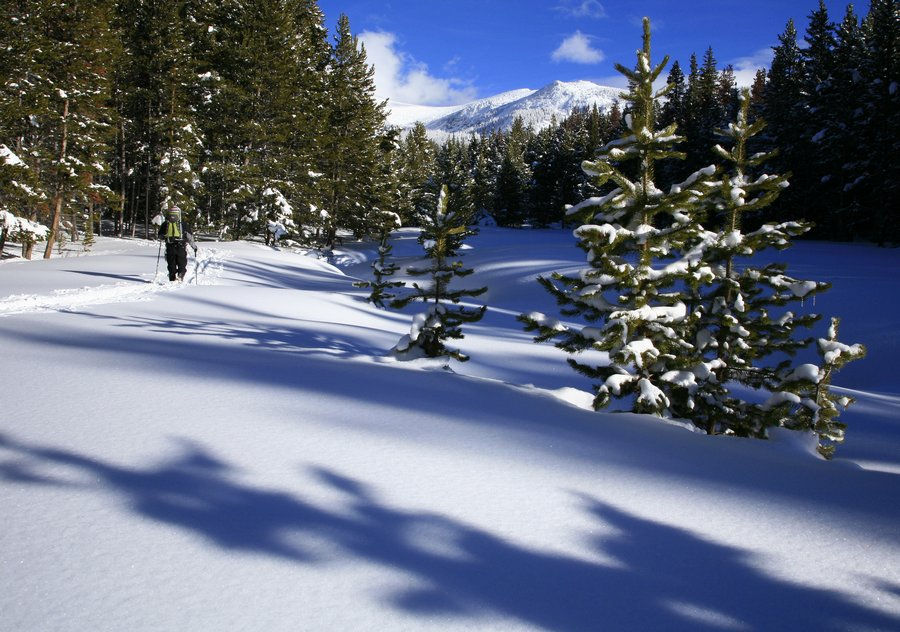Max Anderson, snowshoeing, Winter Park, Colorado, Continental Divide, outdoor, winter, recreation, deep, snow, snowy, da, photo