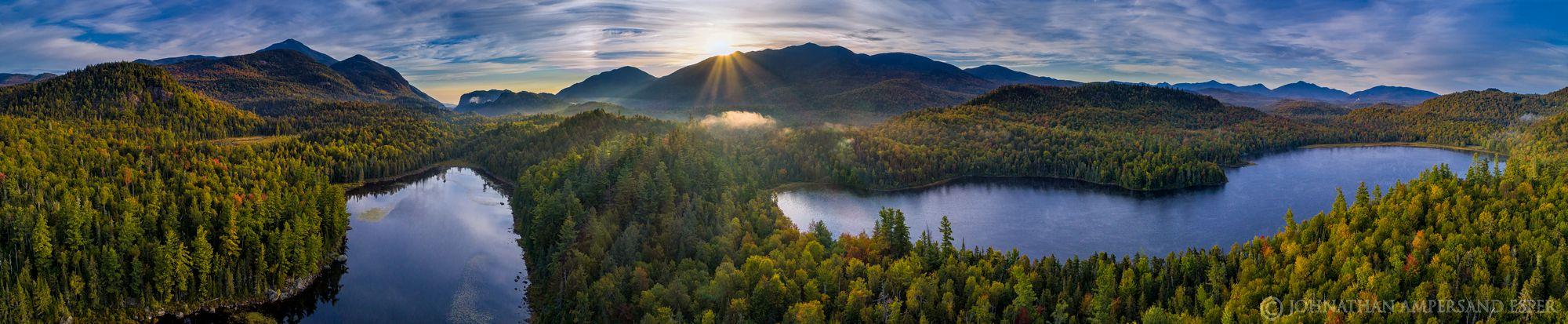 Connery Pond,Long Pond,Whiteface Mt,Whiteface,Whiteface Mountain,Wilmington Notch,Sentinel Range,Adirondacks,Adirondack High Peaks,High Peaks,range,ponds,Adirondack,2019,drone,panorama,September,, photo