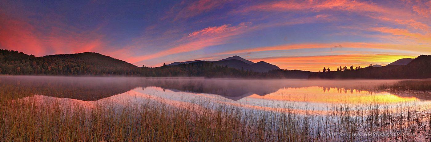 Connery Pond,Whiteface Mt,sunrise,brilliant sunrise,sunrise reflection,mountain reflection,Adirondack Park,Adirondack Mountains, photo