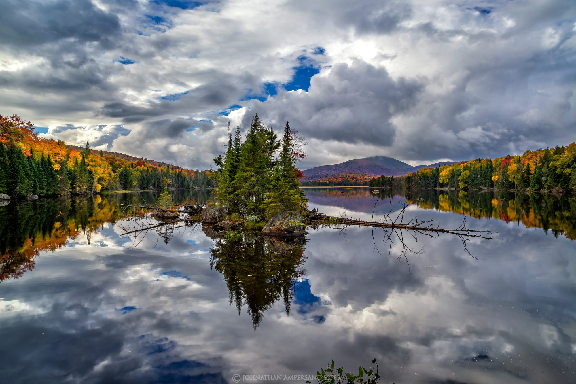 County Line Flow,Kempshall Mt,island,reflection,fall,2016,lake,Adirondacks,Adirondack lake,Adirondack photography,Adirondack...