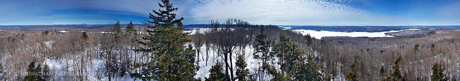 Cranberry Lake,spring,360 degree,Bear Mt,treetop,panorama,360 degree, photo