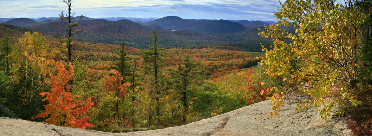 Crane Mountain, Crane Mt., autumn, panorama, rock, slides, photo