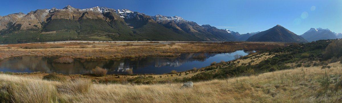 Dart River, flows, Glenorchy, Lake Wakatipu, photo