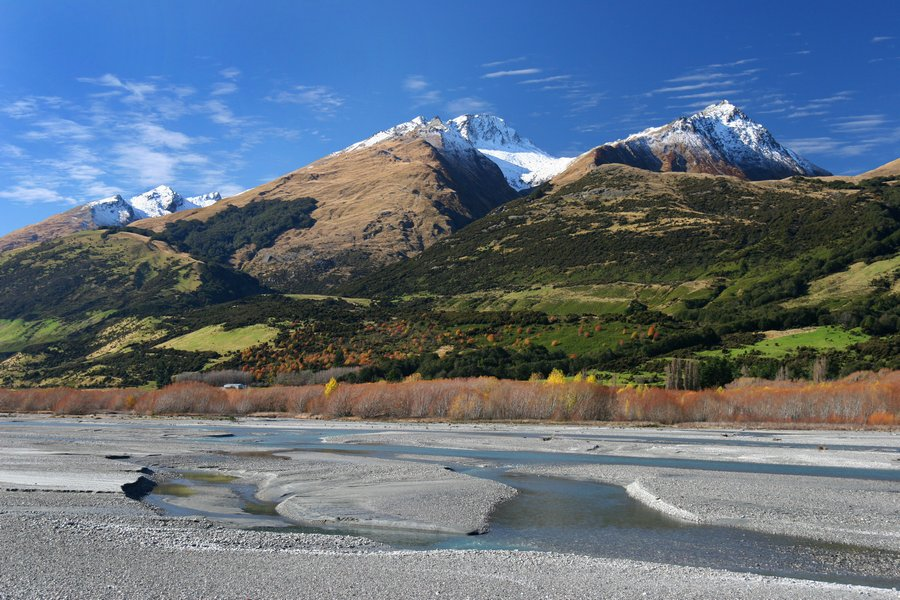 New Zealand,South Island,Dart River,Rees River,Caples Greenstone,valley,vallies,wash,Lake Wakatipu,Queenstown,Glenorchy,, photo