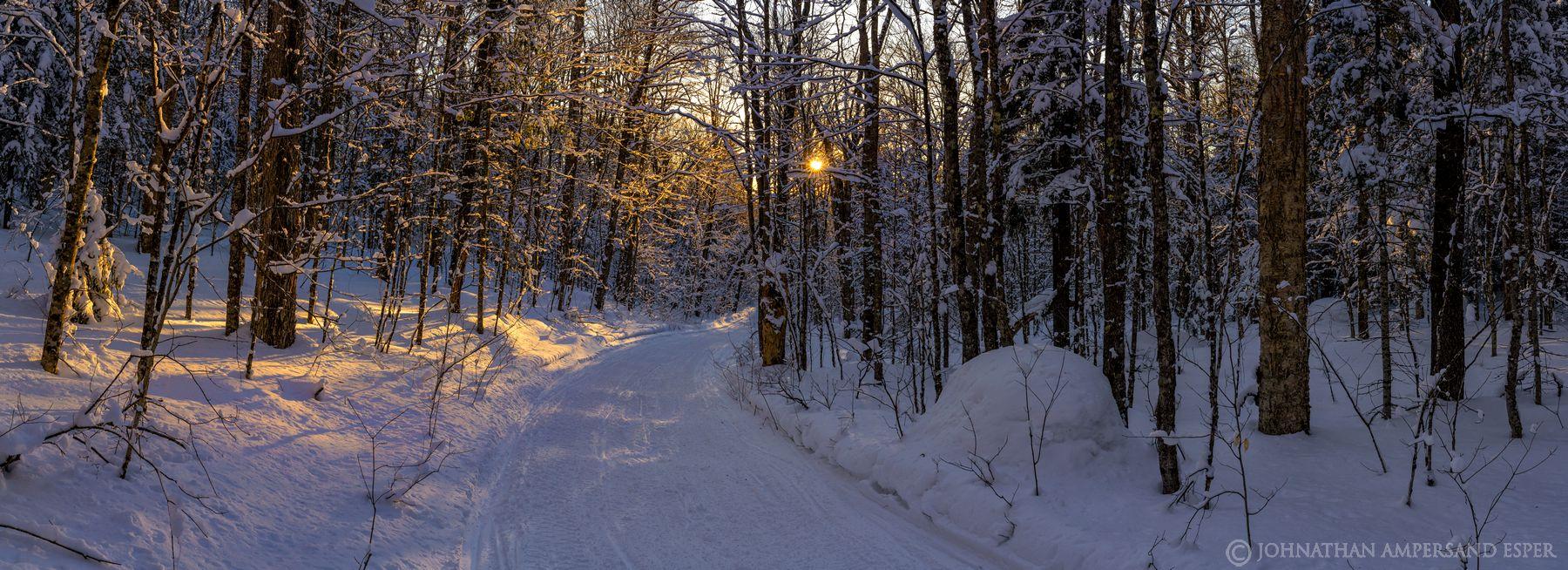 snowmobile trail,Debar Mt trail,Debar Mt,Debar Mt snowmobile trail,snowy forest,woods,winter,winter woods,