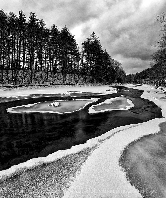East Branch Ausable River,Ausable River,river,Adirondack,snow islands,Keene,Adirondack Park,Adirondack photography, photo