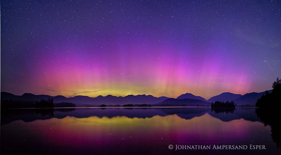 Elk Lake,Aurora Borealis,Northern Lights,Elk Lake Aurora Borealis,night,sky,Dix Range,Dix,High Peaks,night sky,Elk Lake Preserve, photo