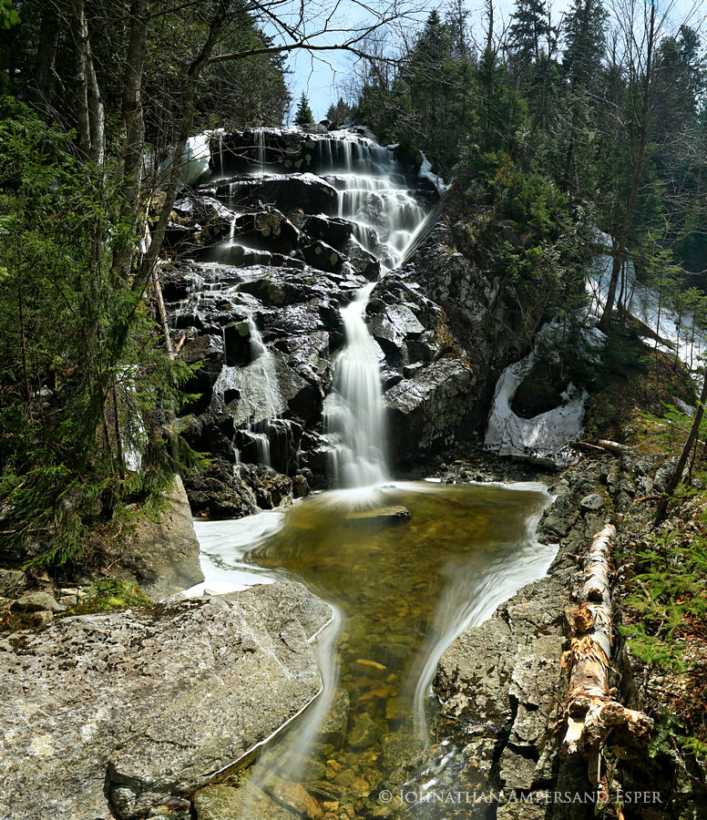 Fairy Ladder Falls,Nippletop,Nippletop Mt,falls,waterfall,Adirondacks,spring,April, photo
