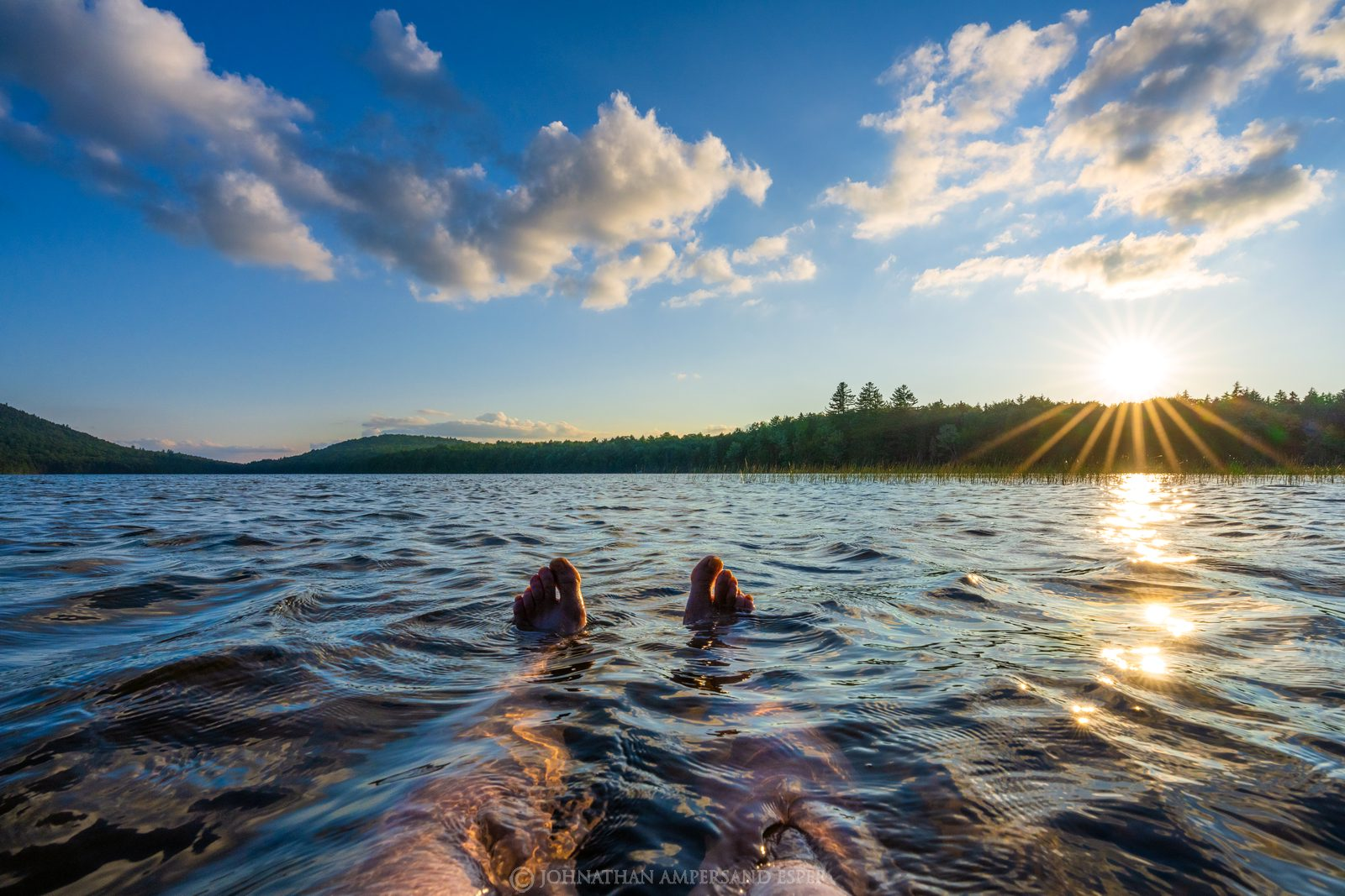 Fawn Lake,white pine,summer, 2020,toes,swimming,floating,Fawn Lake toes,
