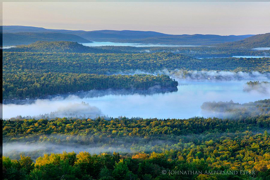 blue-green,layers,fog,Second Lake,Bald Mt,Bald-Rondaxe,Fulton Chain of Lakes,firetower,Bald-Rondaxe Mt,Rondaxe firetower,Bald-Rondaxe Mt,Bald Mt,Rondaxe firetower,firetower,Second Lake,sunrise,fall,20, photo